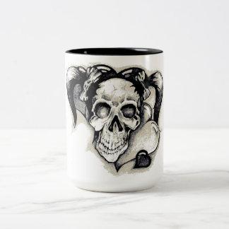 Dead Punk Rock Girl Two-Tone Coffee Mug