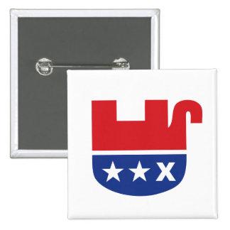 Dead Republican Elephant 2 Inch Square Button