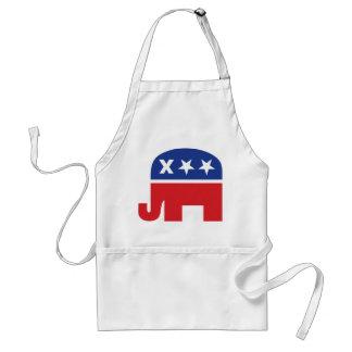 Dead Republican Elephant Adult Apron