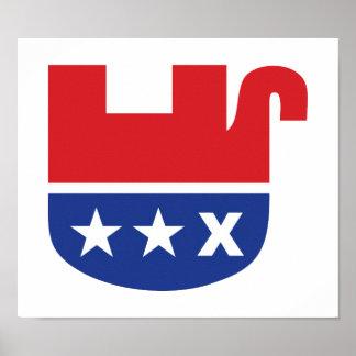 Dead Republican Elephant Poster