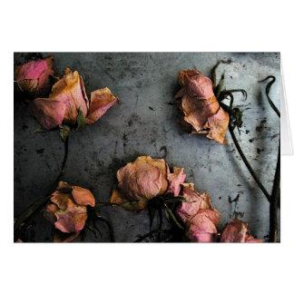 Dead Roses Dance - Blank Inside Card