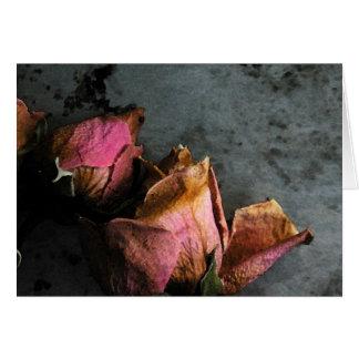 Dead Roses Macro Watercolor Cards - customizable
