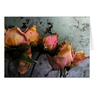 Dead Roses Watercolor Cards - customizable