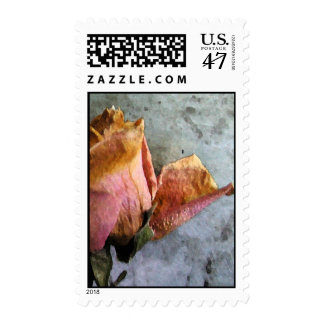 Dead Roses Watercolor Postage - Matching Card!