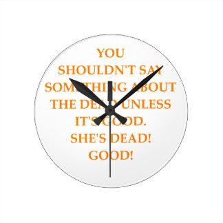 DEAD ROUND CLOCK