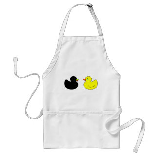 Dead Rubber Duck Mourned by Crying Rubber Duck Adult Apron
