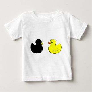 Dead Rubber Duck Mourned by Crying Rubber Duck Baby T-Shirt
