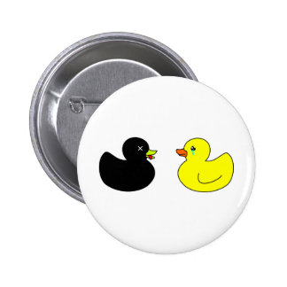 Dead Rubber Duck Mourned by Crying Rubber Duck Button