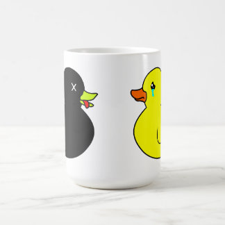 Dead Rubber Duck Mourned by Crying Rubber Duck Coffee Mug