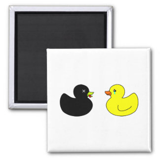 Dead Rubber Duck Mourned by Crying Rubber Duck Refrigerator Magnet