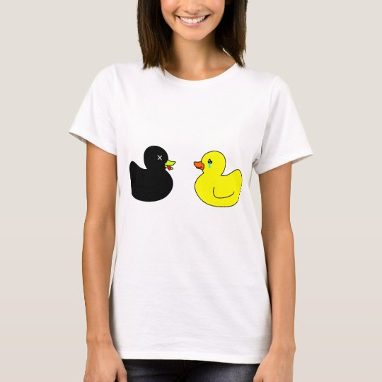 Dead Rubber Duck Mourned by Crying Rubber Duck T-Shirt