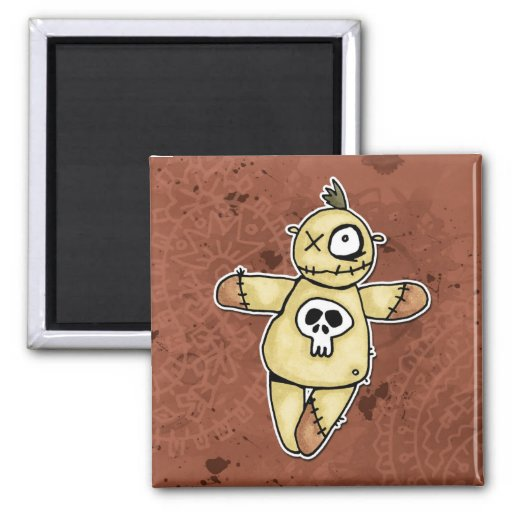 dead said fred 2 inch square magnet