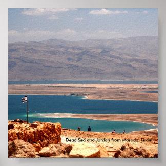 Dead Sea and Jordan from Masada, ... Poster