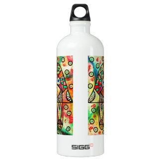 Dead Sea Fish Hamsa Water Bottle