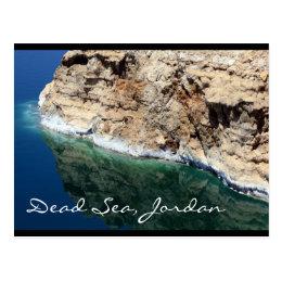 dead sea jordan postcard