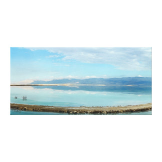 Dead sea panorama mountains blue water reflection canvas print