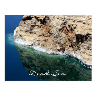 dead sea reflections postcard