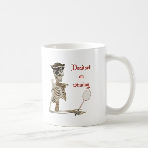 Dead Set Badminton Pirate Classic White Coffee Mug