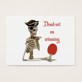 Dead Set Pirate Ping Pong Business Card