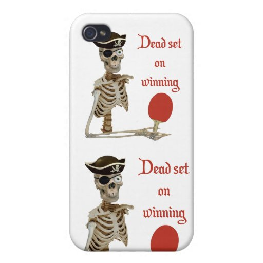 Dead Set Pirate Ping Pong iPhone 4 Case