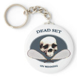 Dead Set Pirate Racquetball Key Chain