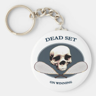 Dead Set Pirate Racquetball Keychain