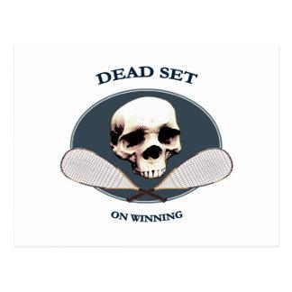 Dead Set Pirate Racquetball Postcard