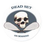 Dead Set Pirate Racquetball Sticker