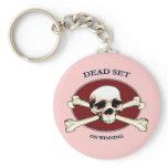 Dead Set Pirate Skull Key Chain