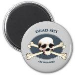 Dead Set Pirate Skull Magnet