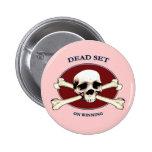 Dead Set Pirate Skull Pinback Button