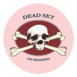 Dead Set Pirate Skull Stickers