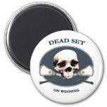Dead Set Skull Lacrosse Magnet