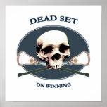 Dead Set Skull Lacrosse Poster