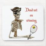 Dead Set Tennis Pirate Mouse Pad