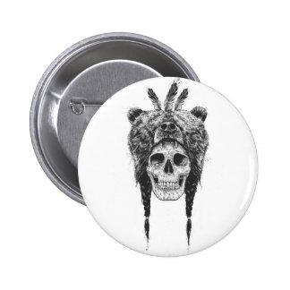 Dead shaman (b&w) pinback button
