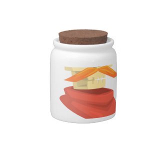 Dead Sheriff Head And Star Pin Drawing Isolated On Candy Jars