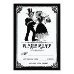 dead skeleton couple wedding rsvp card