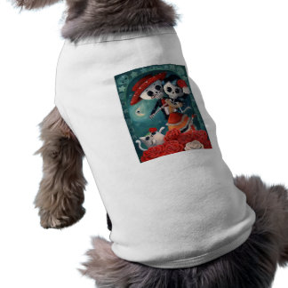 Dead Skeleton Mexican Lovers Doggie Tshirt