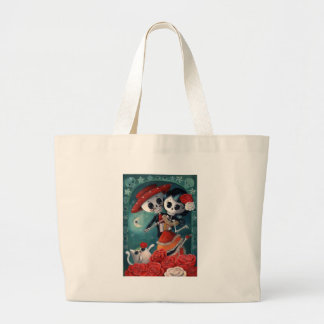 Dead Skeleton Mexican Lovers Tote Bag
