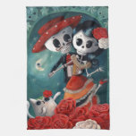 Dead Skeleton Mexican Lovers Towel