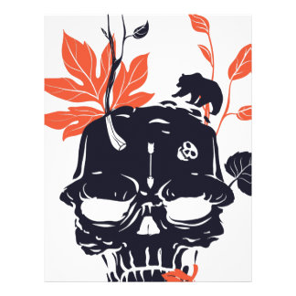dead skull and bear letterhead