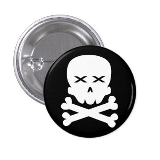 Dead Skull Pinback Buttons