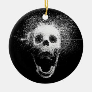 dead skull ceramic ornament