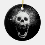 dead skull Double-Sided ceramic round christmas ornament