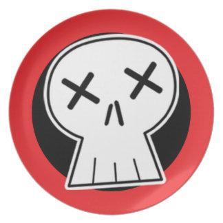 """""""Dead"""" Skull Red Target Plate"""