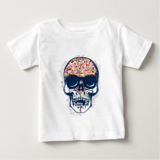 dead skull zombie colored design baby T-Shirt