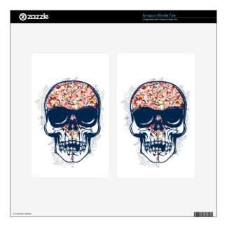 dead skull zombie colored design kindle fire decal