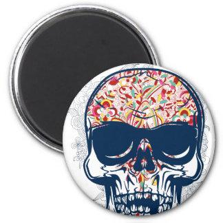 dead skull zombie colored design magnet