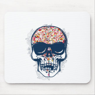 dead skull zombie colored design mouse pad